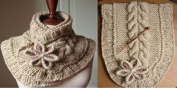Knitted Cable Scarf [FREE Knitting Pattern]