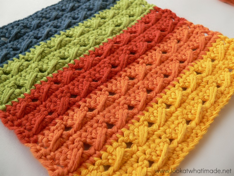 Crochet Cables Luxury Cable Stitch Dishcloth 2 Free Patterns ⋆ Look at What I Of Amazing 48 Pics Crochet Cables