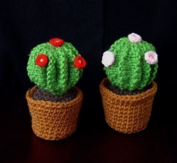 Crochet Cactus Pattern Lovely Knitted Barrel Cactus In Crochet Pot Pincushion Instant Of Lovely 40 Models Crochet Cactus Pattern