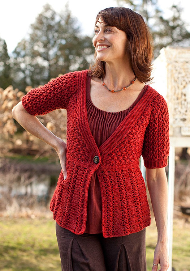 Crochet Cardigan Free Pattern New top 10 Free Crochet Patterns for Stylish Spring Inspired Of Top 49 Pics Crochet Cardigan Free Pattern