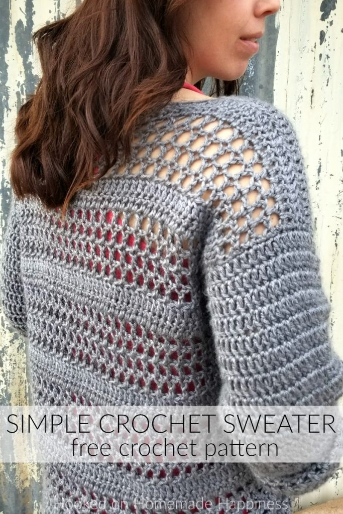 Crochet Cardigan Pattern Best Of Simple Crochet Sweater Pattern Of Perfect 41 Ideas Crochet Cardigan Pattern