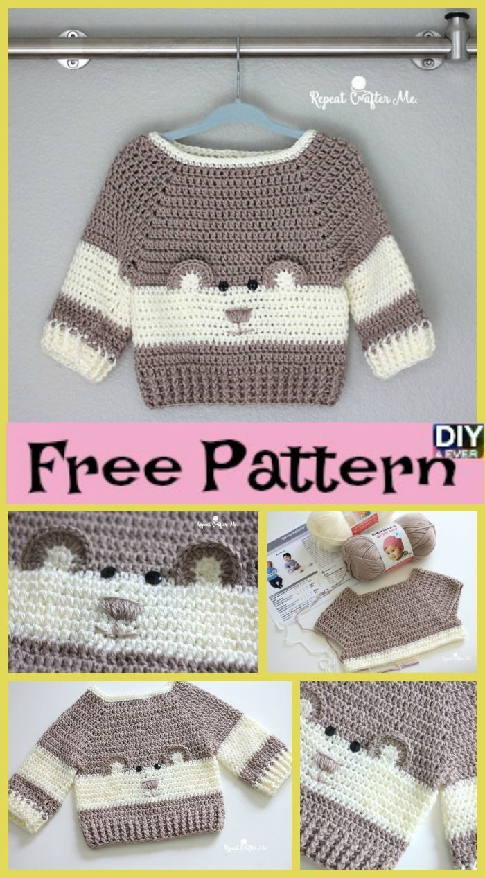 Crochet Cardigan Pattern Elegant Baby Crochet Patterns Crochet Baby Bear Sweater – Free Of Perfect 41 Ideas Crochet Cardigan Pattern