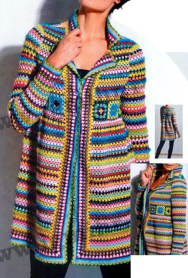 crochet pattern of cardigan jacket or