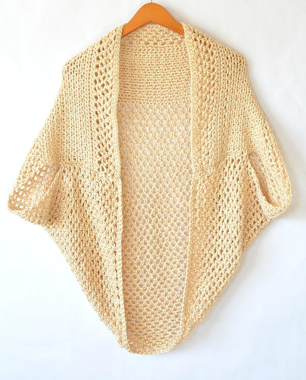 Light Mod Mesh Crochet Cardigan Sweater