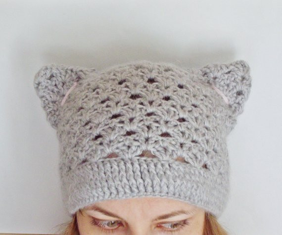 PDF PATTERN step by step TUTORIAL Crochet hat with cat ears