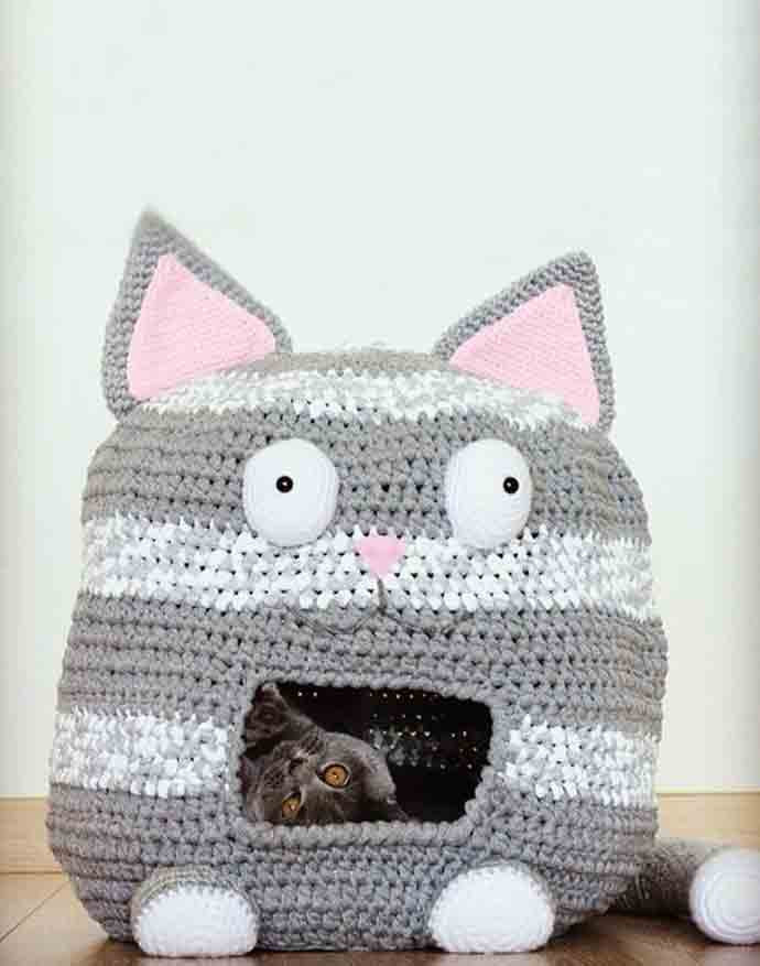 Crochet Cat House Fresh 7 Purrfect Diy Crafts for Cats and their Humans Of Crochet Cat House