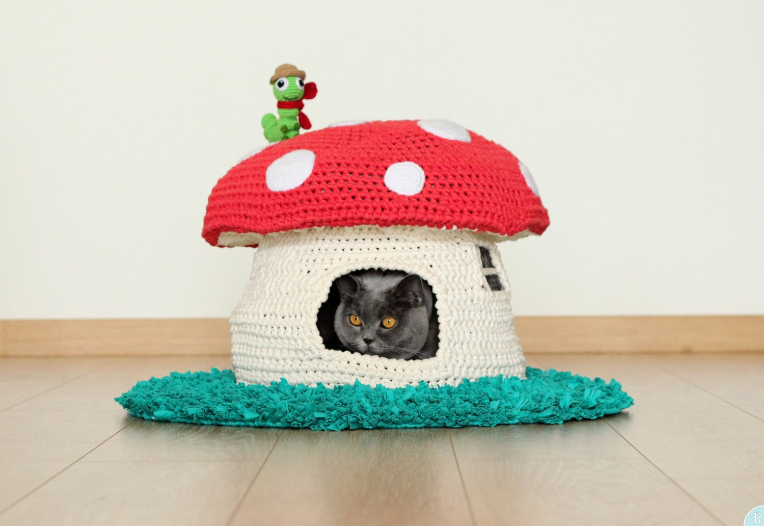 Crochet Cat House Lovely Pattern Into the Woodland House Pet Bed Crochet Cat Cave Of Crochet Cat House