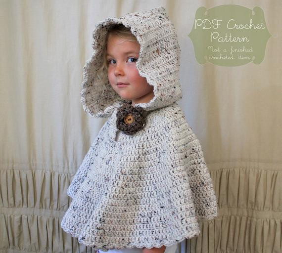 Crochet Child Poncho Awesome Crochet Pattern the River Hooded Shawl toddler Child Of Crochet Child Poncho Fresh Easy Poncho to Crochet with Puff Stitch Rows
