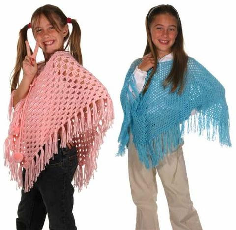 Crochet Child Poncho Lovely Ponchos for Kids Crochet Pattern – Maggie S Crochet Of Crochet Child Poncho Fresh Easy Poncho to Crochet with Puff Stitch Rows