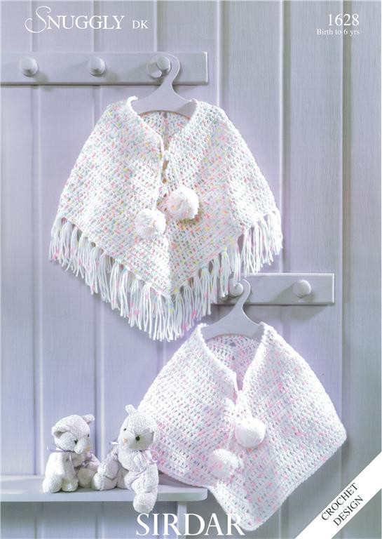 Crochet Child Poncho Lovely Sirdar Poncho In Dk Child Baby Crochet Pattern 1628 Of Crochet Child Poncho Fresh Easy Poncho to Crochet with Puff Stitch Rows