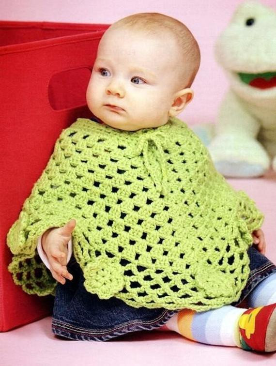 Crochet Child Poncho Luxury Baby toddler Wraps Poncho Crochet Patterns Of Crochet Child Poncho Fresh Easy Poncho to Crochet with Puff Stitch Rows