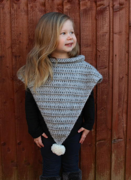 Crochet Child Poncho New 37 Creative Crochet Poncho Patterns for You Patterns Hub Of Crochet Child Poncho Fresh Easy Poncho to Crochet with Puff Stitch Rows