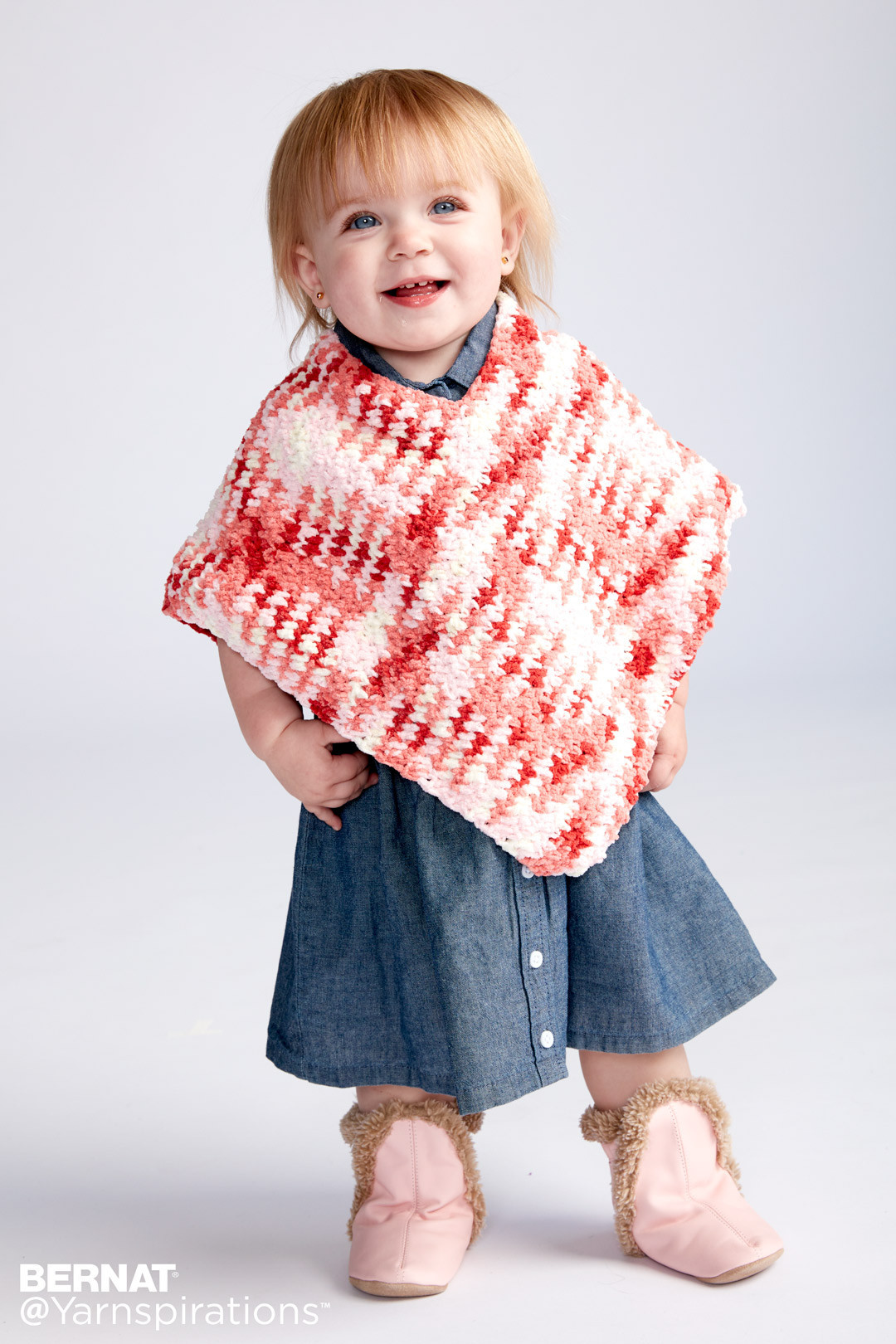 Crochet Child Poncho New Bernat Simple Crochet Baby Poncho Crochet Pattern Of Crochet Child Poncho Fresh Easy Poncho to Crochet with Puff Stitch Rows