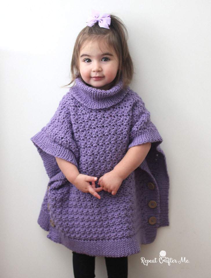 Crochet Child Poncho Unique Yarnspirations Crochet Poncho for You and Me and Giveaway Of Crochet Child Poncho Fresh Easy Poncho to Crochet with Puff Stitch Rows