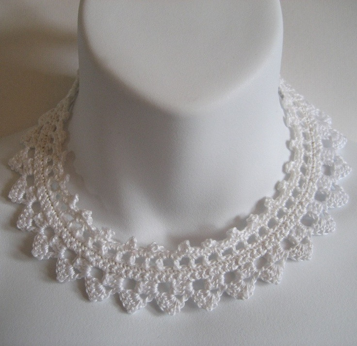 Crochet Chokers Awesome White Crochet Lace Choker Necklace Collar Wedding Of Awesome 49 Photos Crochet Chokers
