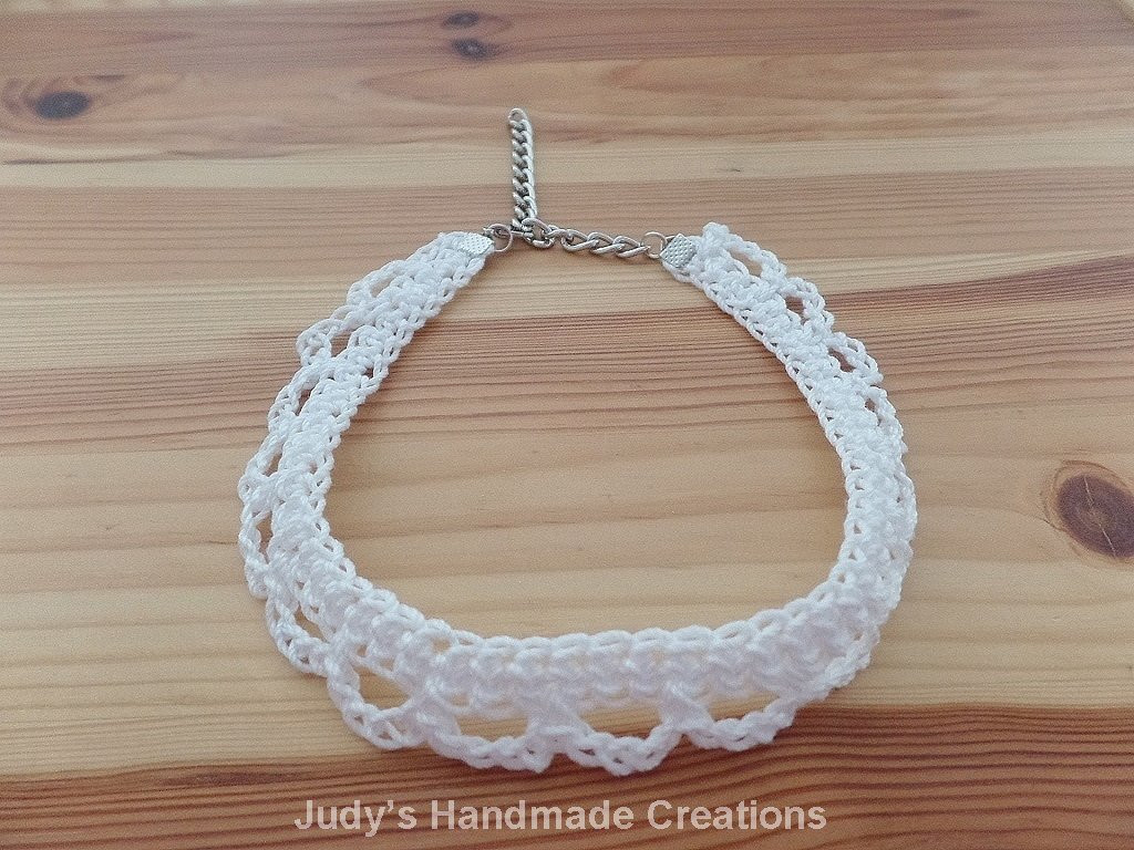 Crochet Chokers Elegant White Crochet Choker Necklace Crochet by Judyhandmadecreation Of Awesome 49 Photos Crochet Chokers