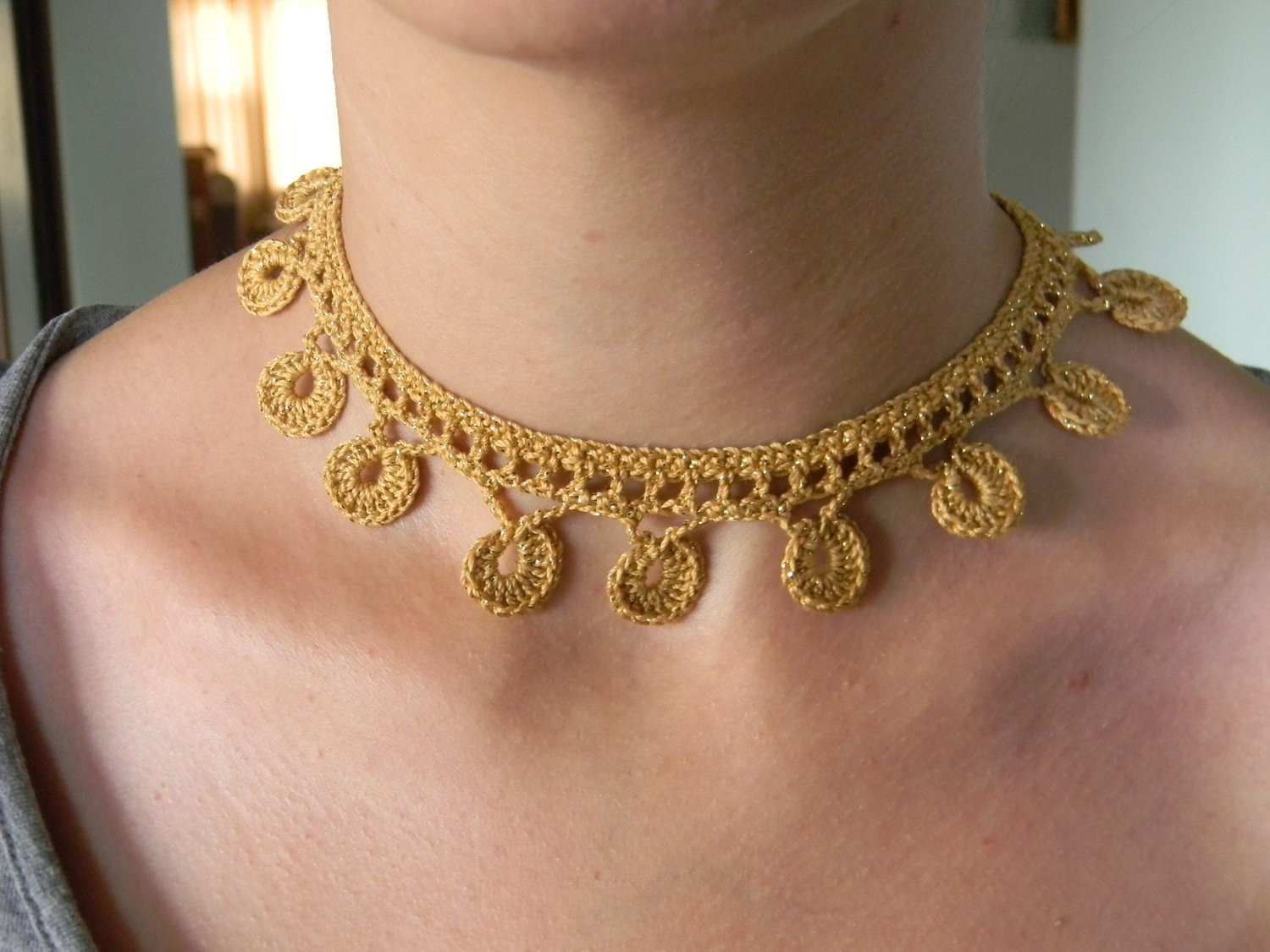 Crochet Chokers Luxury Crochet Necklace Pattern Pdf for Golden Coins Of Awesome 49 Photos Crochet Chokers