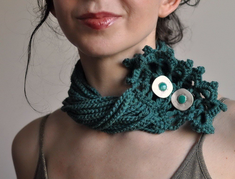 Crochet Chokers Unique Emerald Lake Crocheted Collar Choker Neckwear Of Awesome 49 Photos Crochet Chokers