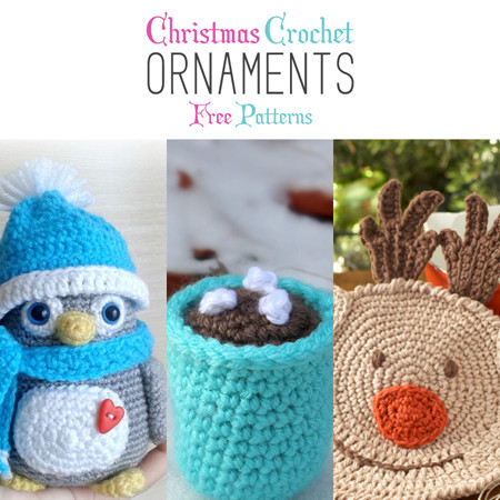 Christmas Crochet Ornaments with Free Patterns The