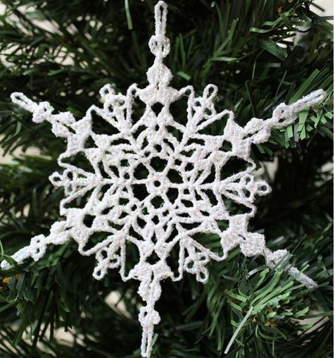 Crochet Christmas ornaments Awesome Sparkly Crochet Snowflake ornament Of Fresh 50 Pictures Crochet Christmas ornaments