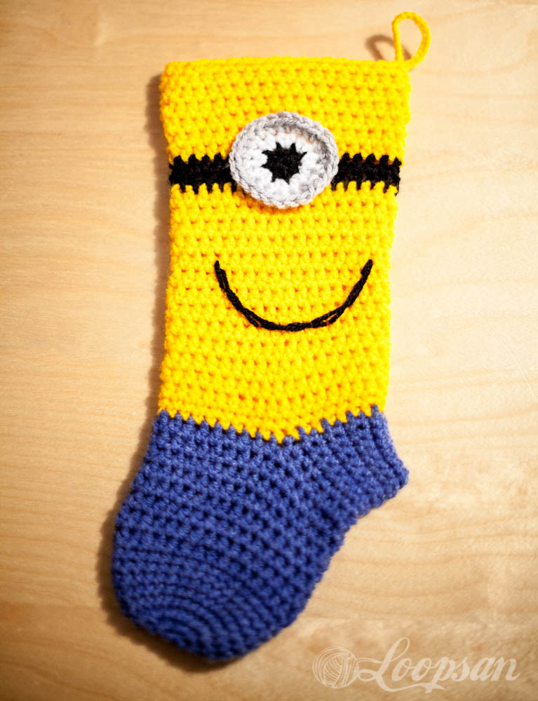 Crochet Christmas Stocking Best Of Minion Inspired Christmas sock Free Pattern Loopsan Of Unique 45 Pictures Crochet Christmas Stocking