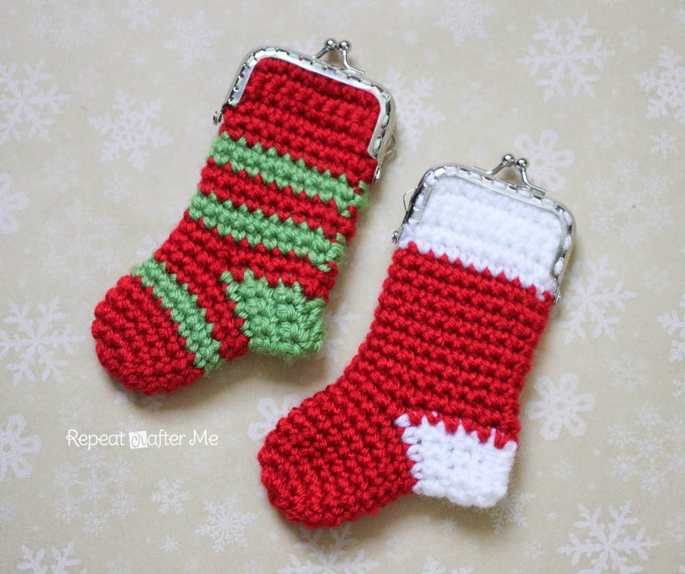Crochet Christmas Stocking Pattern Awesome Crochet Christmas Stocking Coin Purse Of Top 46 Models Crochet Christmas Stocking Pattern