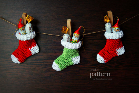 Crochet Christmas Stocking Pattern Awesome Crochet Christmas Stocking ornaments Pattern No 013 Of Top 46 Models Crochet Christmas Stocking Pattern