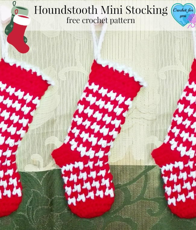 Crochet Christmas Stocking Pattern Unique Houndstooth Crochet Stocking Pattern Of Top 46 Models Crochet Christmas Stocking Pattern