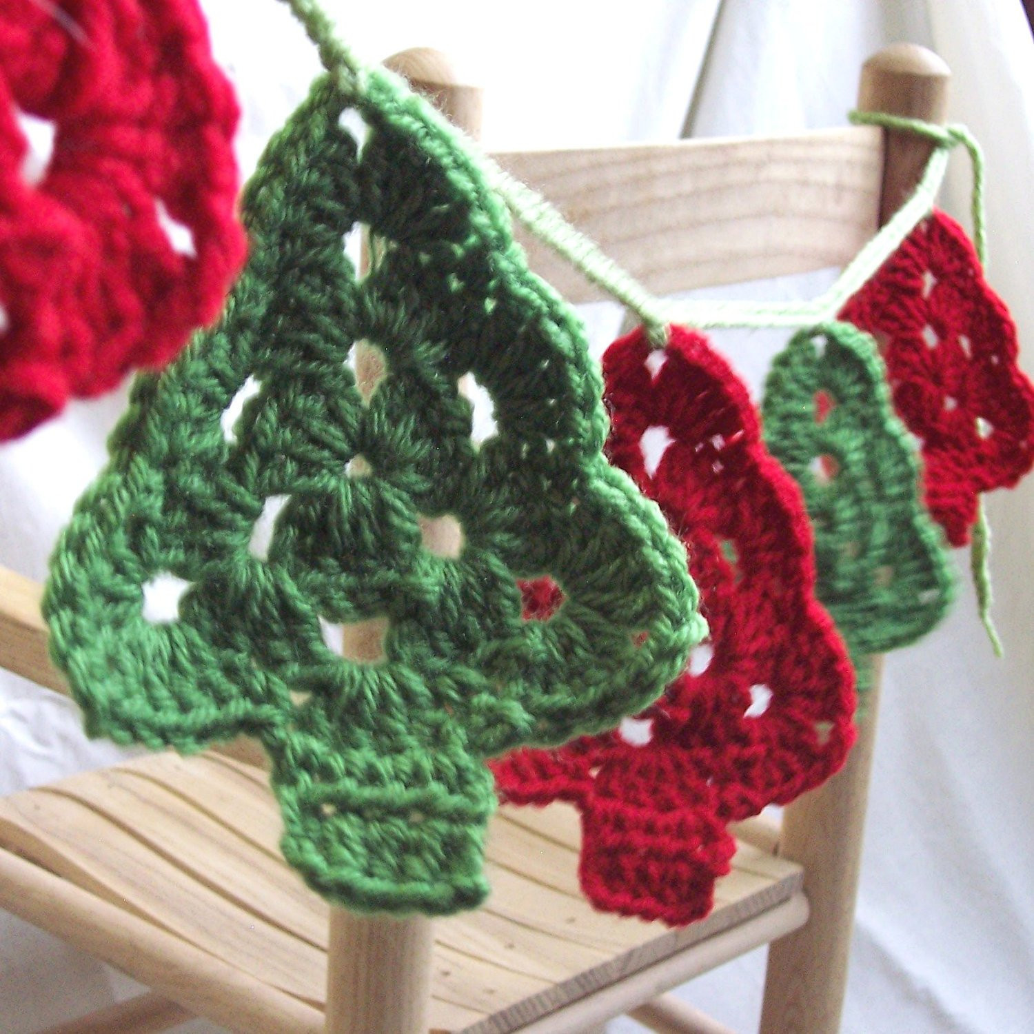 Crochet Christmas Tree Beautiful Christmas Trees Crochet Garland Granny Tree Style Bunting Of Amazing 42 Ideas Crochet Christmas Tree