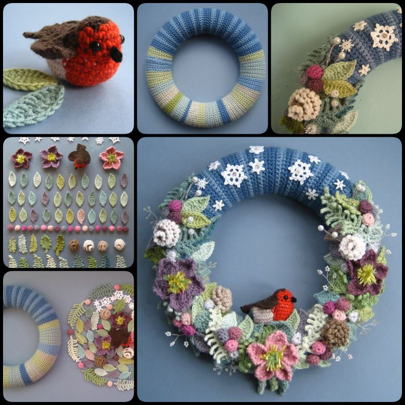 Crochet Christmas Wreath Best Of How to Crochet Wreaths Of Lovely 43 Photos Crochet Christmas Wreath