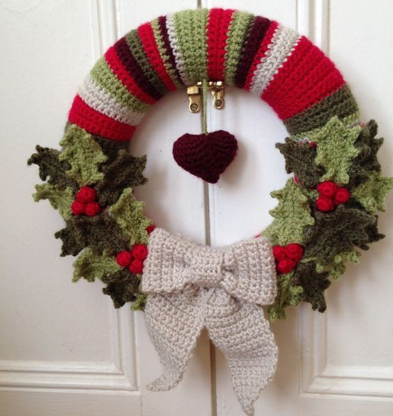 Crochet Christmas Wreath Inspirational 10 Christmas Wreath Crochet Patterns Page 2 Of 2 Of Lovely 43 Photos Crochet Christmas Wreath
