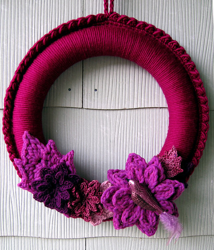 Crochet Christmas Wreath Inspirational Lindamade Another Crocheted Wreath Of Lovely 43 Photos Crochet Christmas Wreath