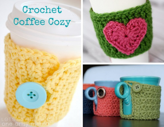 Crochet Coffee Cup Cozy Awesome Crochet A Day 3 Crochet Coffee Cozy Patterns Of Crochet Coffee Cup Cozy Luxury Pdf Crochet Pattern Coffee Mug Cozy with button by