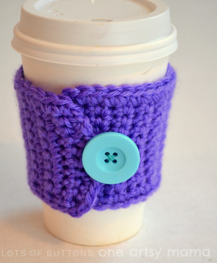 Crochet Coffee Cup Cozy Awesome Crochet Coffee Cozy Amy Latta Creations Of Crochet Coffee Cup Cozy Luxury Pdf Crochet Pattern Coffee Mug Cozy with button by