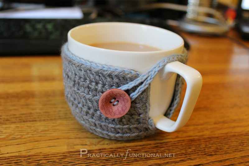 Crochet Coffee Cup Cozy Elegant Crochet Mug Cozy Practically Functional Of Crochet Coffee Cup Cozy Luxury Pdf Crochet Pattern Coffee Mug Cozy with button by
