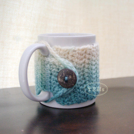 Crochet Coffee Cup Cozy Elegant Ombre Crochet Mug Cozy Cup Cozy Coffee From Of Crochet Coffee Cup Cozy Elegant Basketweave Cup Cozy Crochet Pattern with