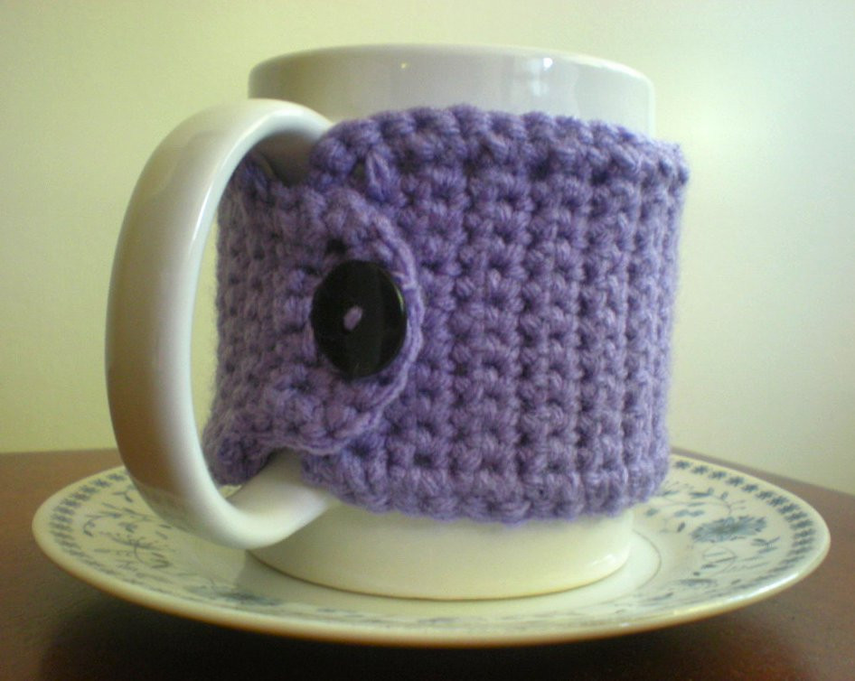 Crochet Coffee Cup Cozy Elegant Sunny Stitching Pinned It & Did It Mug Cozy Crochet Of Crochet Coffee Cup Cozy Luxury Pdf Crochet Pattern Coffee Mug Cozy with button by