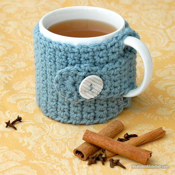Crochet Coffee Cup Cozy Fresh 20 Cool Crochet Coffee Cozy Ideas & Tutorials Hative Of Crochet Coffee Cup Cozy Luxury Happy Holidays Handmade Gift Idea Crochet Heart Coffee