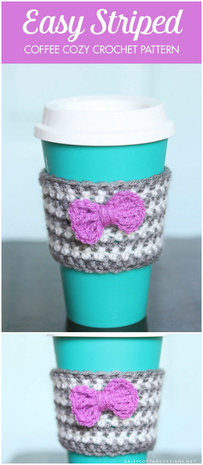 Crochet Coffee Cup Cozy Fresh 8 Crochet Cozy Patterns Free Crochet Patterns • Diy Home Of Crochet Coffee Cup Cozy Luxury Happy Holidays Handmade Gift Idea Crochet Heart Coffee