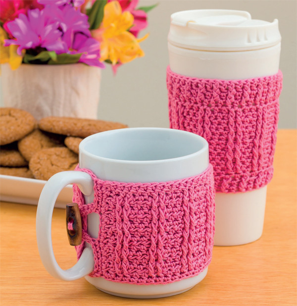 Creativity awaits crochet coffee cozy patterns Stitch