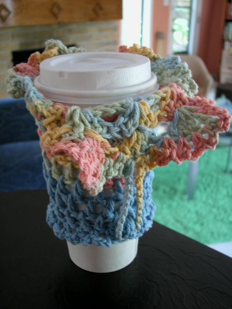 Crochet Coffee Cup Cozy Fresh the Crochet Dude Free Patterns Coffee Cup Cozy Of Crochet Coffee Cup Cozy Elegant Basketweave Cup Cozy Crochet Pattern with