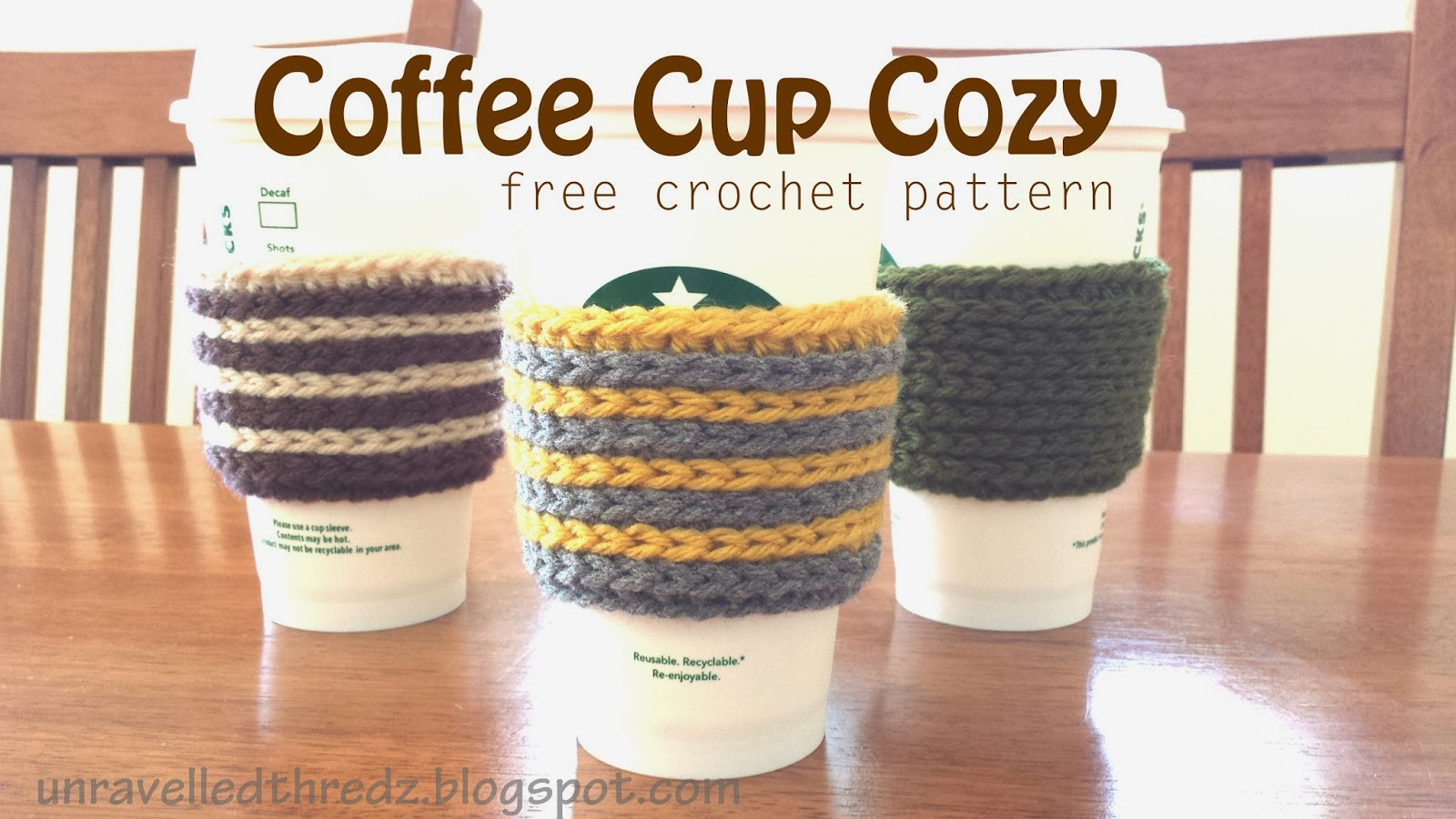 Crochet Coffee Cup Cozy Inspirational Crochet Class Beginning Crochet Sparkleez Crystles Of Crochet Coffee Cup Cozy Awesome Crochet Coffee Cozy Amy Latta Creations