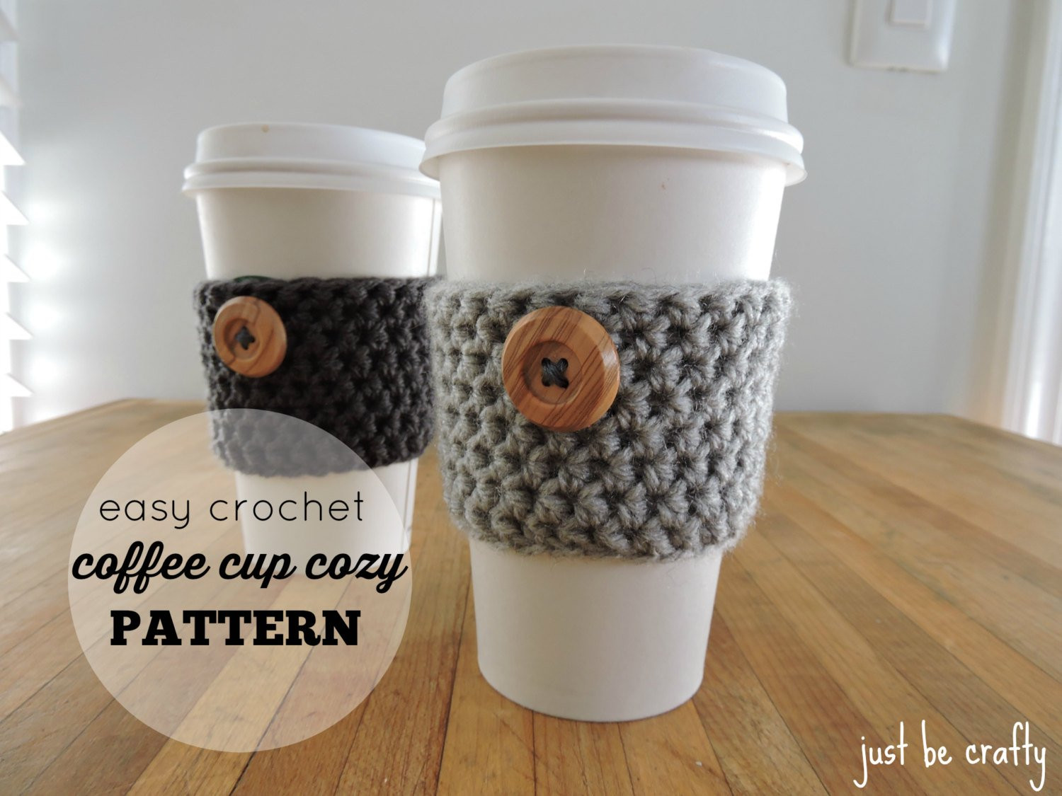 Crochet Coffee Cup Cozy Pattern PDF Download Coffee Cup Cozy
