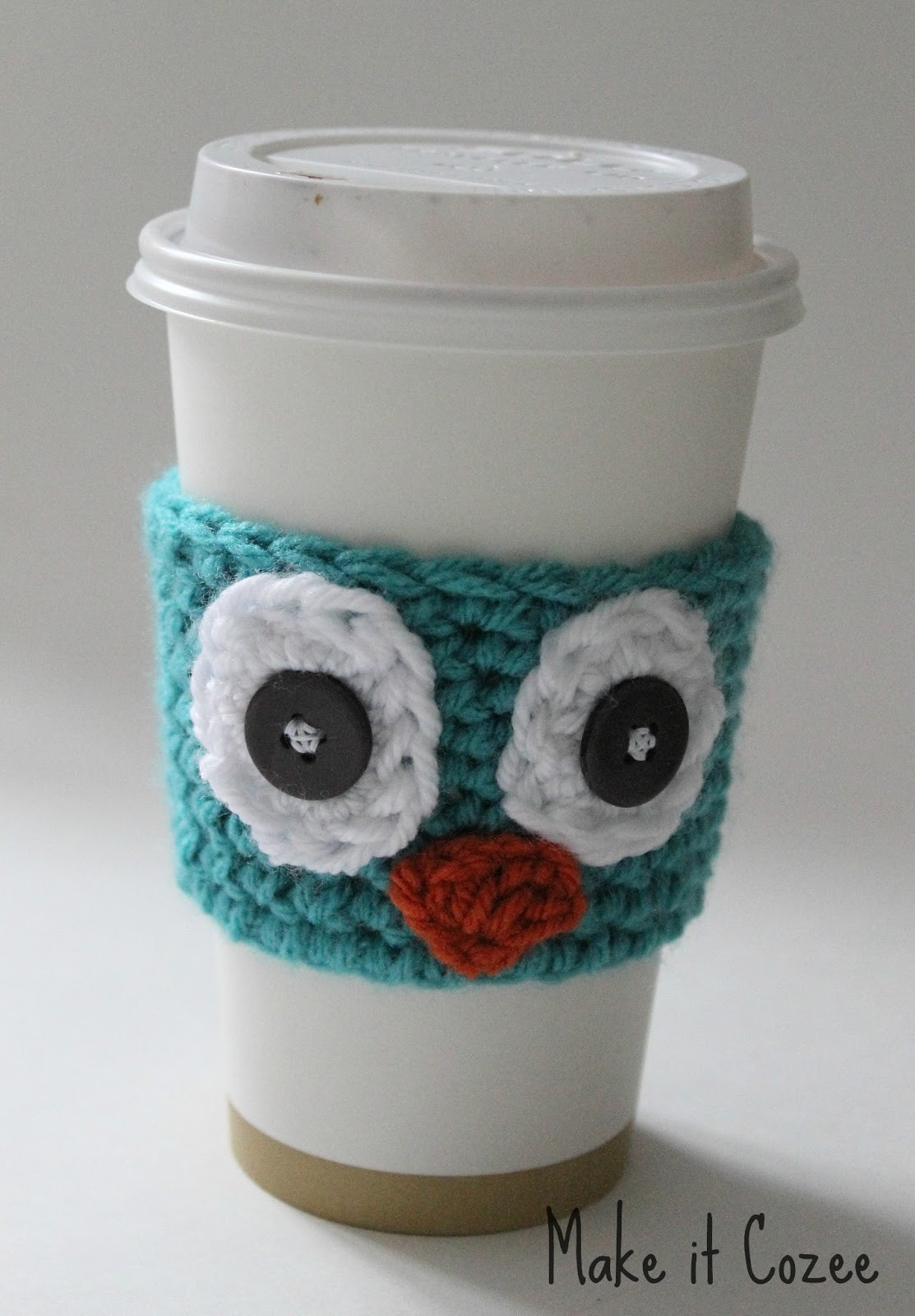 Crochet Coffee Cup Cozy Inspirational Make It Cozee Crochet Owl Coffee Cozy Of Crochet Coffee Cup Cozy Luxury Happy Holidays Handmade Gift Idea Crochet Heart Coffee