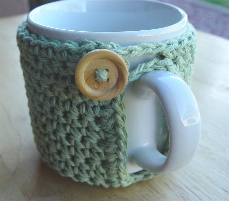 Crochet Coffee Cup Cozy Lovely Pdf Crochet Pattern Mighty Mug Cozy Of Crochet Coffee Cup Cozy Luxury Pdf Crochet Pattern Coffee Mug Cozy with button by