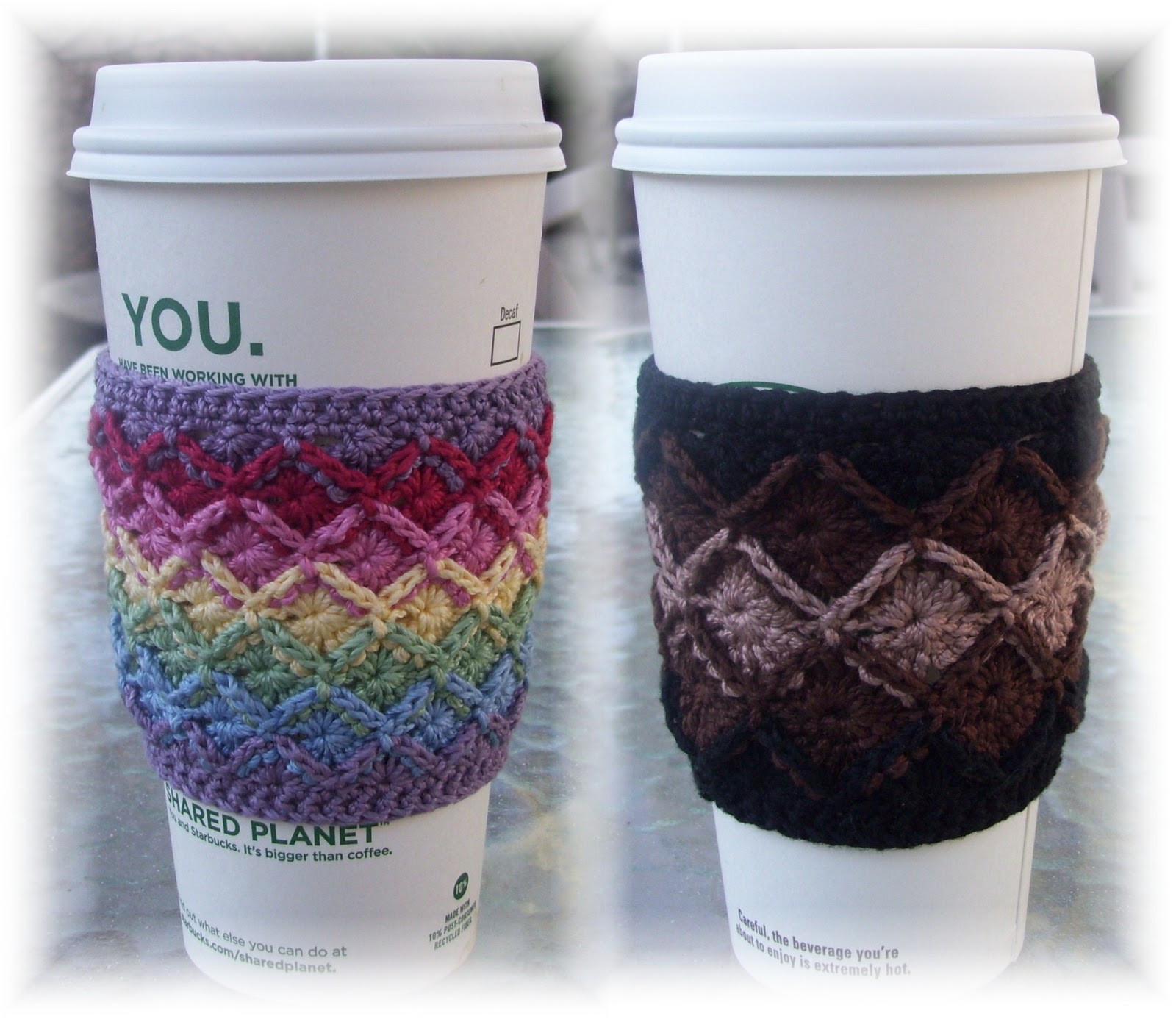 Crochet Coffee Cup Cozy Luxury Crochet Coffee Cozy Pattern Of Crochet Coffee Cup Cozy Luxury Happy Holidays Handmade Gift Idea Crochet Heart Coffee