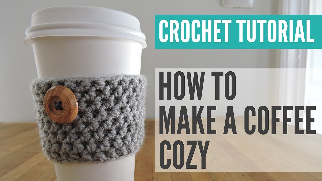 Crochet Coffee Cup Cozy Luxury Crochet Coffee Cup Cozy Tutorial Coffee Cozy Pattern Of Unique 44 Pics Crochet Coffee Cup Cozy