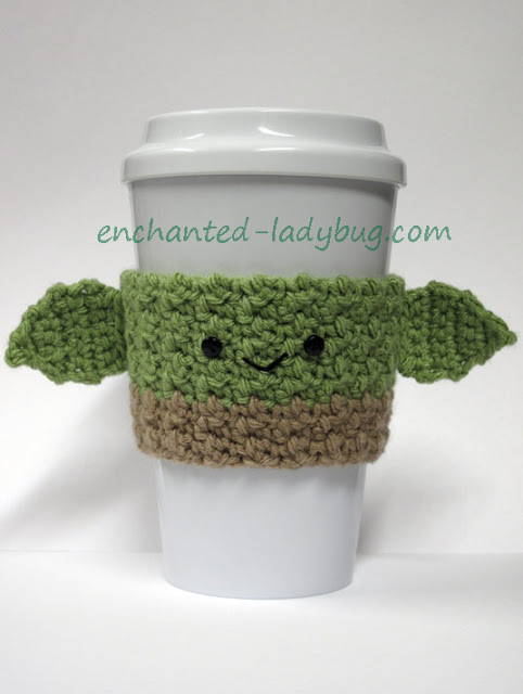 Crochet Coffee Cup Cozy New Free Crochet Yoda Coffee Cup Cozy Pattern Of Crochet Coffee Cup Cozy Luxury Pdf Crochet Pattern Coffee Mug Cozy with button by