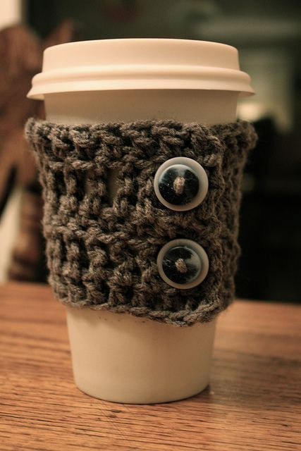 Crochet Coffee Cup Cozy New top 18 Ideas About Coffee Cuffs On Pinterest Of Crochet Coffee Cup Cozy Luxury Pdf Crochet Pattern Coffee Mug Cozy with button by
