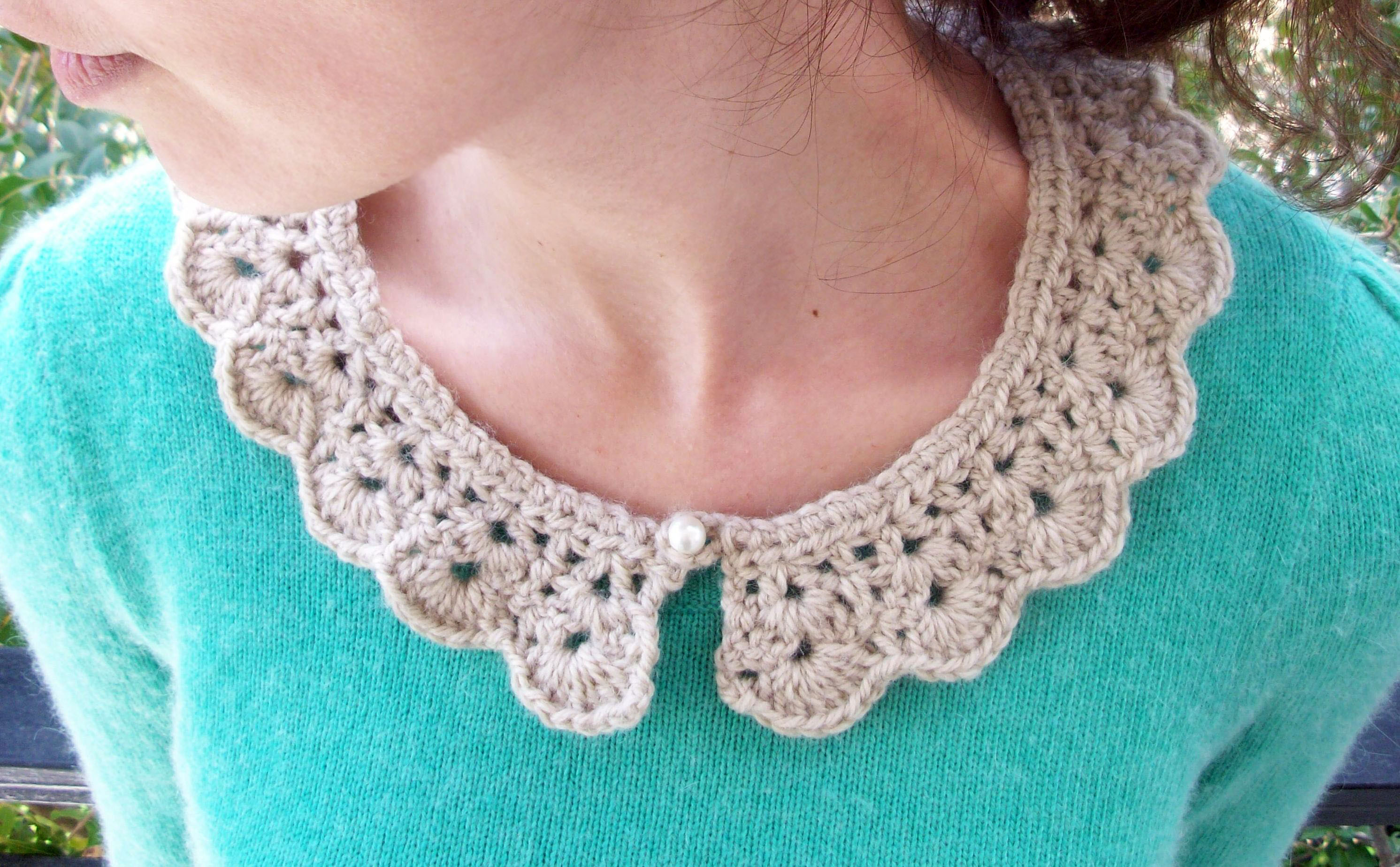 Crochet Collar Best Of the Pearl button Crochet Collar Of Innovative 41 Ideas Crochet Collar